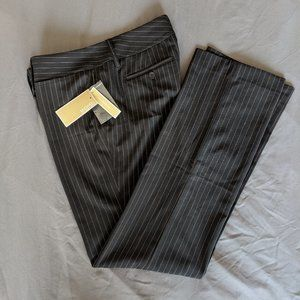 NWT Michael Kors Black Pinstripe Dress Pants Sz 6